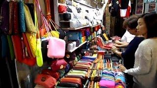 Shopping at Hong Kong Night Market Temple Street
