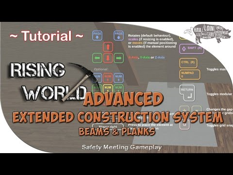 ~ Rising World   Tutorial   ADVANCED Extended Construction System (Beams & Planks)