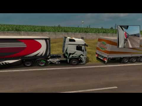 ets2 MP Convoy Reims   Dresden رحلة من ريم الى دريسدن