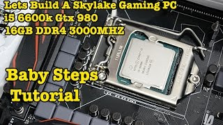 How To Build A SKYLAKE ALL WHITE Gaming Computer i5 6600k Asus Z170 Pro Phanteks Enthoo Luxe Gtx 980