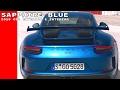Sapphire Blue Metallic 2018 Porsche GT3 Exterior & Interior Walkaround