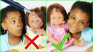 Défilé de mode et Comment enlever du stylo sur les poupées, crash test doll hacks