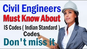 IS Codes ( Indian Standard ) Codes for Civil Engineering ) IS 456 - 2000 , IS 800 - 2007 , IS 1200