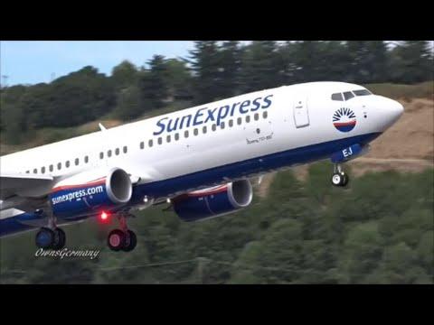 SunExpress of Turkey New Boeing 737-800 TC-SEJ Test Flight Takeoff & Landing