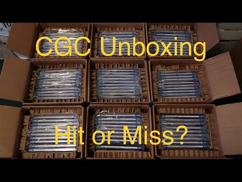 """CGC Comic book results, Unboxing """"WOW"""""""
