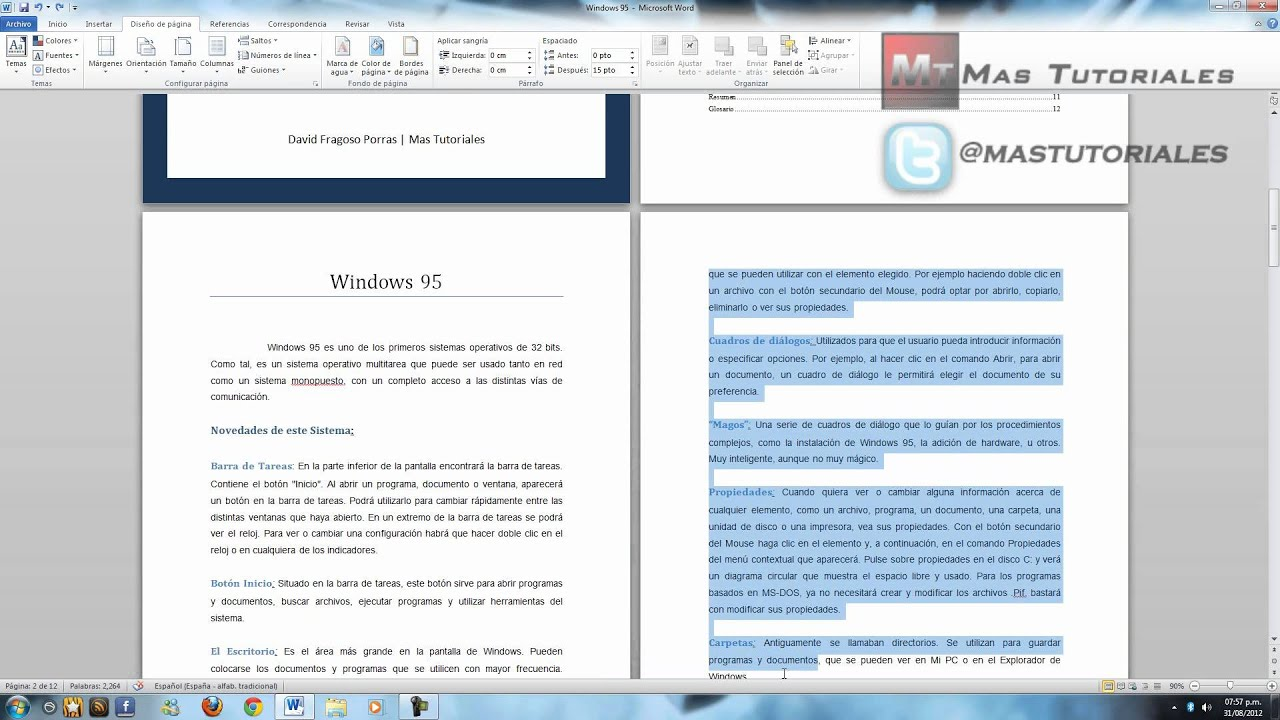 Word 2010 - Como poner margenes - YouTube