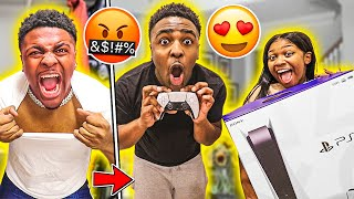 PRANKING MY BOYFRIEND WITH A FAKE PS5, THEN SURPRISING HIM WITH A NEW PS5!