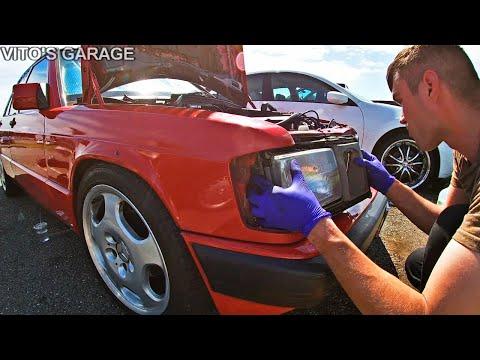 Американские Фары на Мерседес W201 190е + Новый Стеклоподъёмник!