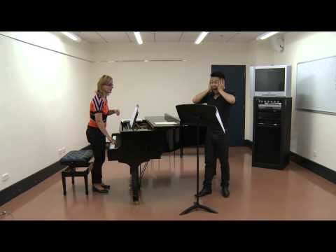 Singing lessons with a countertenor and a soprano