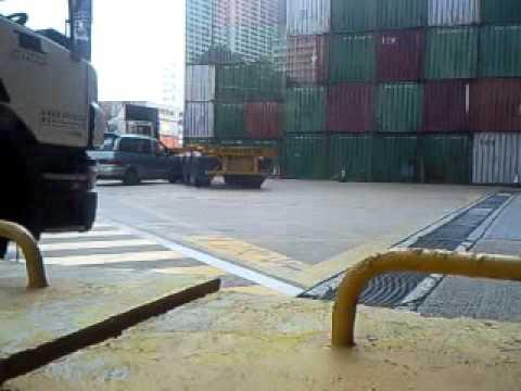 葵涌3號貨櫃碼頭CY貨櫃場撞車PART 7.mp4 - YouTube