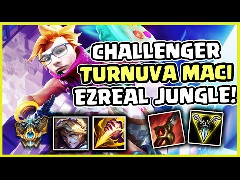 CHALLENGER TAKIM TURNUVA MAC EZREAL JUNGLE // COUNTER JUNGLE // MOTORCU DERMAN