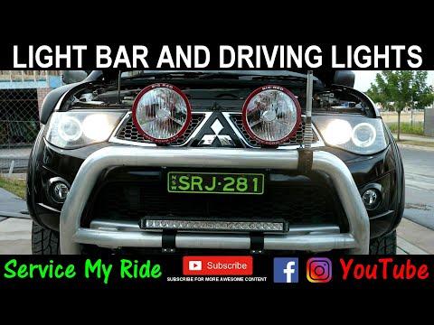 LED LIGHT BAR INSTALL AN DRIVING LIGHTS