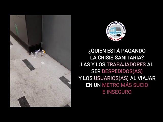 Lamentable paradoja en el #MetrodeSantiago: suciedad y despidos