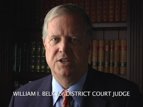 William I. Belk for District Court Judge