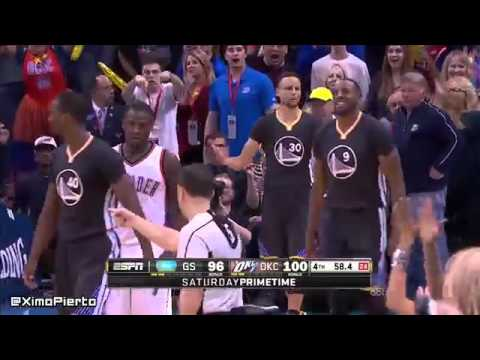 Golden State Warriors vs Oklahoma City Thunder - Highlights February 27, 2016  NBA