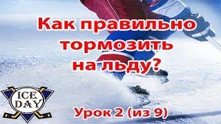 Урок 2 Как тормозить на коньках. Как кататься на коньках?