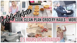 GET IT ALL DONE MARATHON // CLEAN WITH ME PLAN WITH ME COOK WITH ME + GROCERY HAULS!