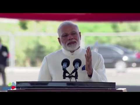 Indian PM Narendra Modi speaks in Israel