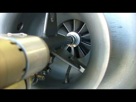 Gr 7 Experimental Turbo Jet Engine Electric Starter Test
