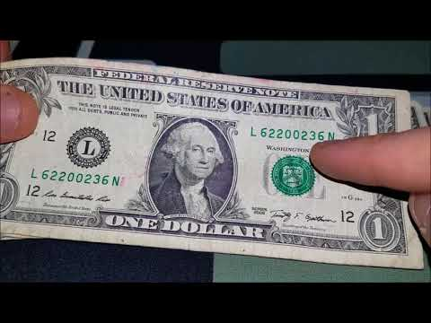 SEARCH! Looking For Rare Bank Notes And Serial Numbers In $1 Bills