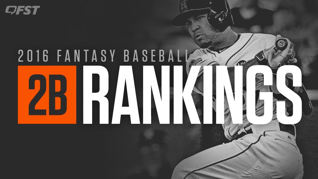 2016 Fantasy Baseball Second Base Tiers & Rankings - YouTube
