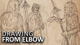 DRAWING FROM ELBOW - Outlandish Curiosity