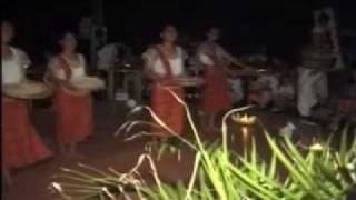 island dancers and costumes of the philippines with modern music