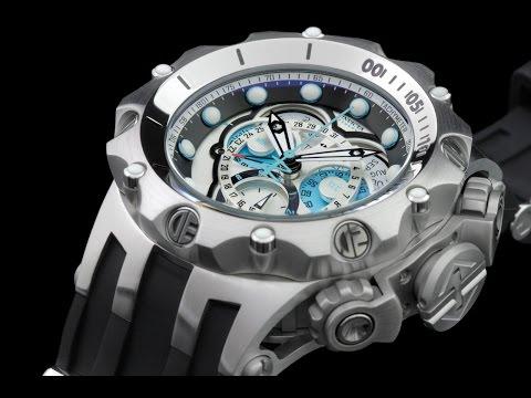 Invicta 20423 52mm Reserve Venom Hybrid Master Calendar Chronograph Strap Watch