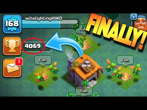 HITTING 4,000 TROPHIES IN THE BUILDER'S BASE! WE FINALLY DID IT! Clash Of Clans