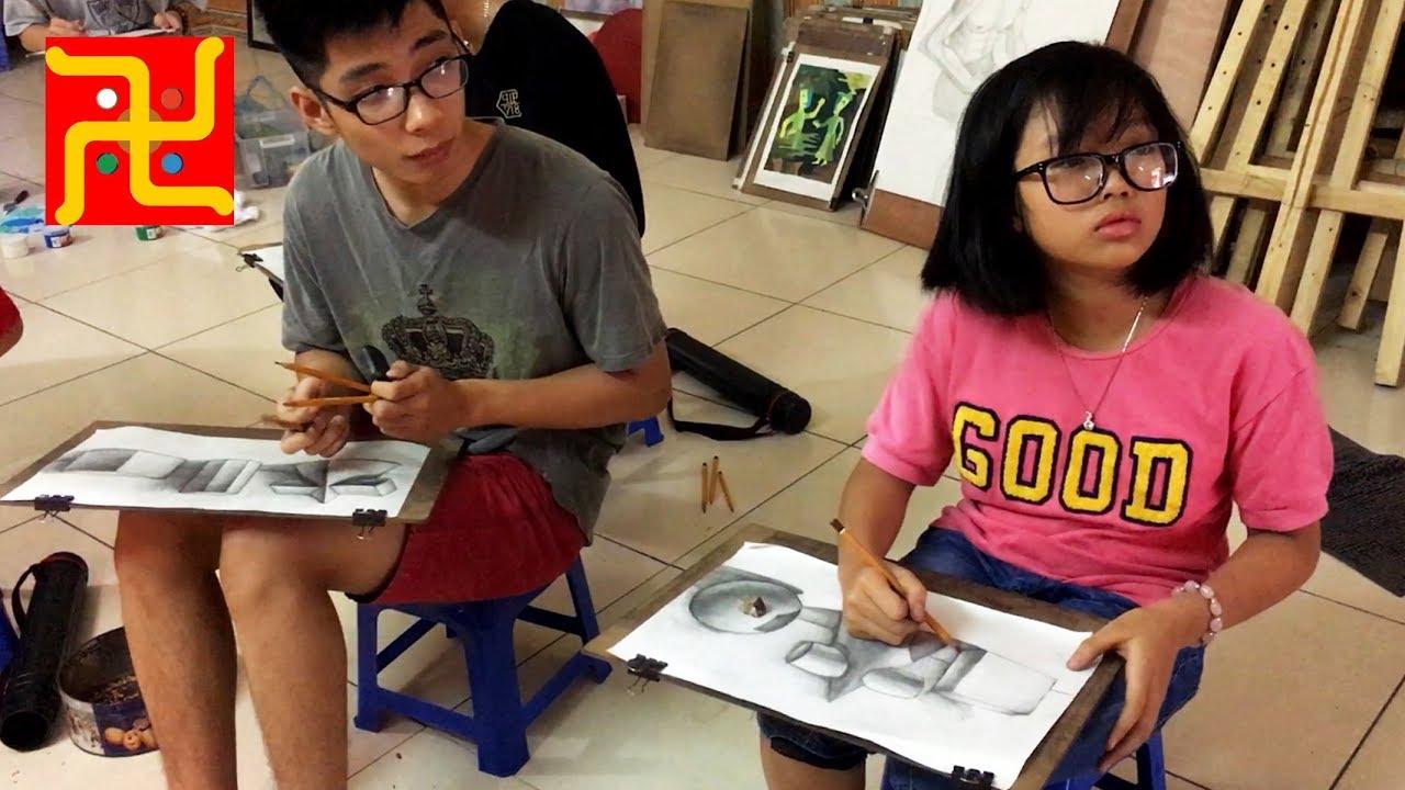 Lớp Vẽ Thầy Quỳnh ngày 1 tháng 6 năm 2019