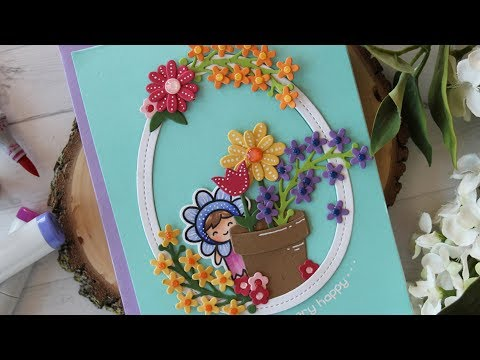 How to make a cute floral card