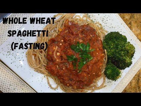 Daniel Fast Whole Wheat Spaghetti