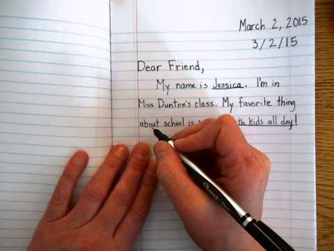 How to write a Friendly Letter  YouTube