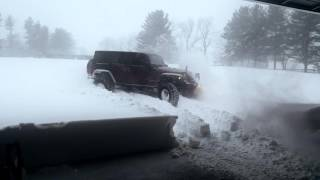 Jeep Wrangler Rubicon JKU vs Winter Storm Jonas