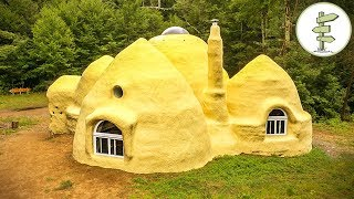 Incredible Dome Home Built With Earth Bags - Sustainable Superadobe House