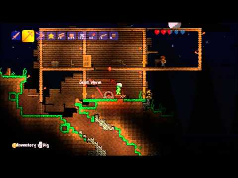 Terraria Xbox 360 - #5 Mining for Silver, Gold and Iron