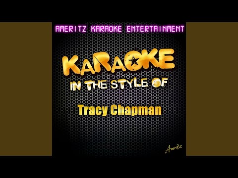 Wedding Song (In the Style of Tracy Chapman) (Karaoke Version)