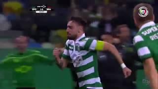 Goal | Golo Bruno Fernandes: Sporting (1)-0 Sp. Braga (Liga 18/19 #22)