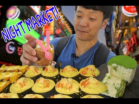 Korean NIGHT MARKET Food Tour in Seoul South Korea!