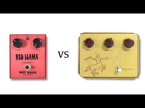 Original Way Huge Red Llama Vs Klon Centaur