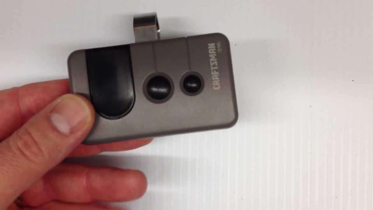 how to program a garage door remote change the battery craftsman 315 youtube [ 1280 x 720 Pixel ]