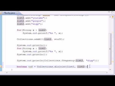 intermediate-java-tutorial---13---frequency,-disjoint