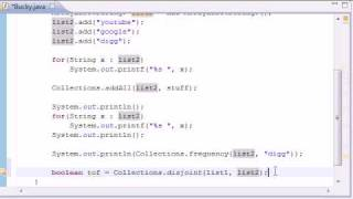 Intermediate Java Tutorial - 13 - frequency, disjoint