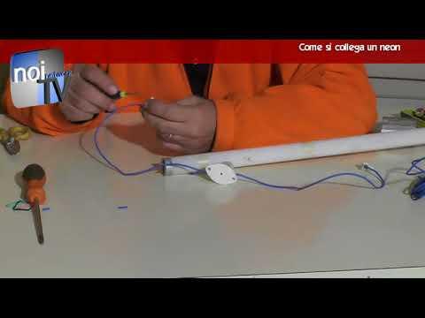 Schema Elettrico Neon A Led : Come collegare un neon fai da te youtube