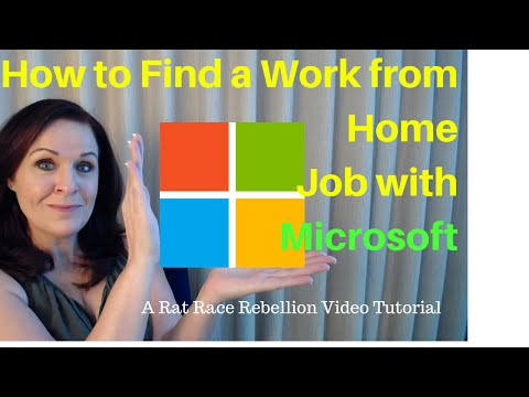 How to Find a Work from Home Job with Microsoft