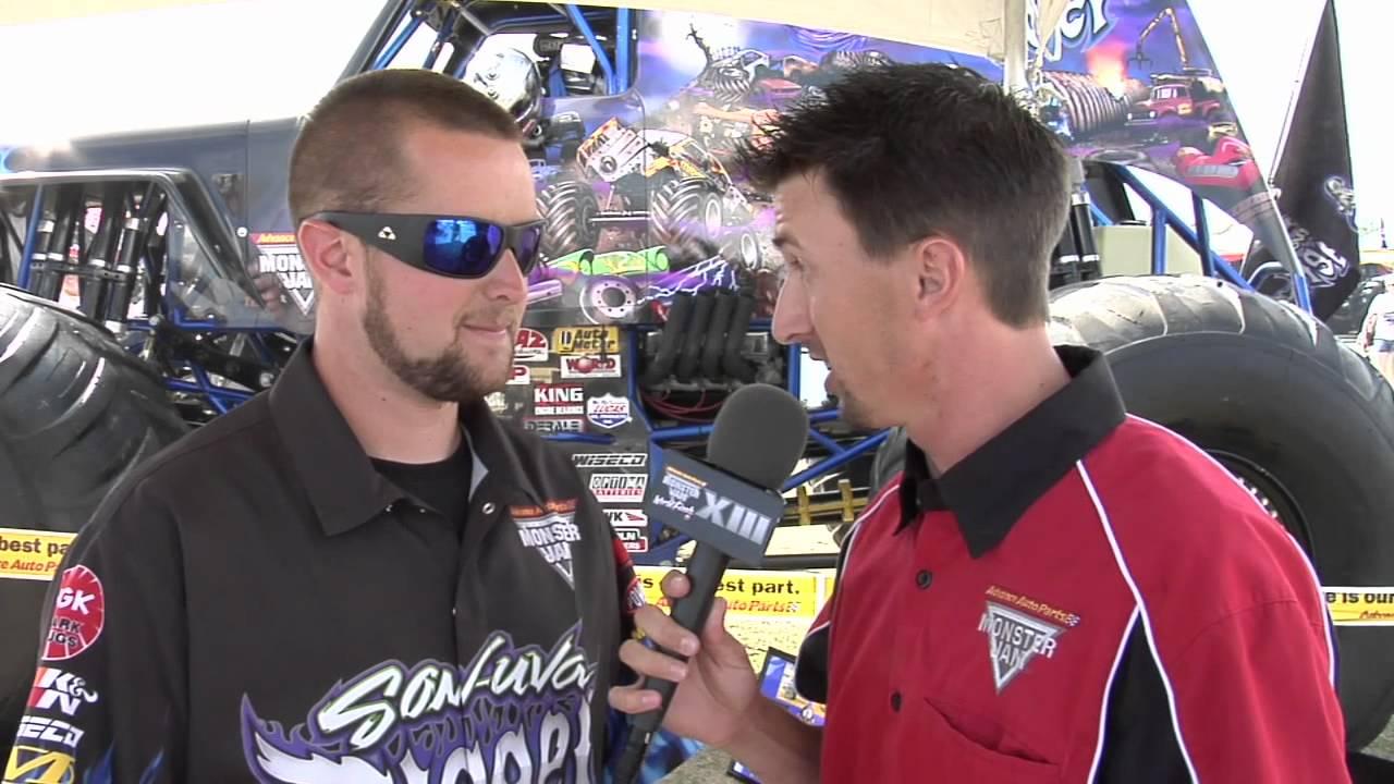 Monster jam world finals 2012 todd morey talks to ryan anderson of son uva digger monster truck youtube