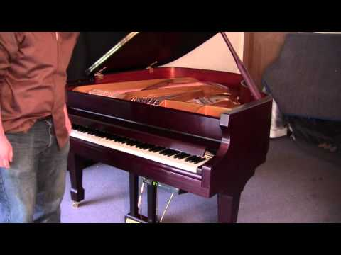 Langlois & Sons GL540 Baby Grand Player Piano - Jazz Selection.wmv