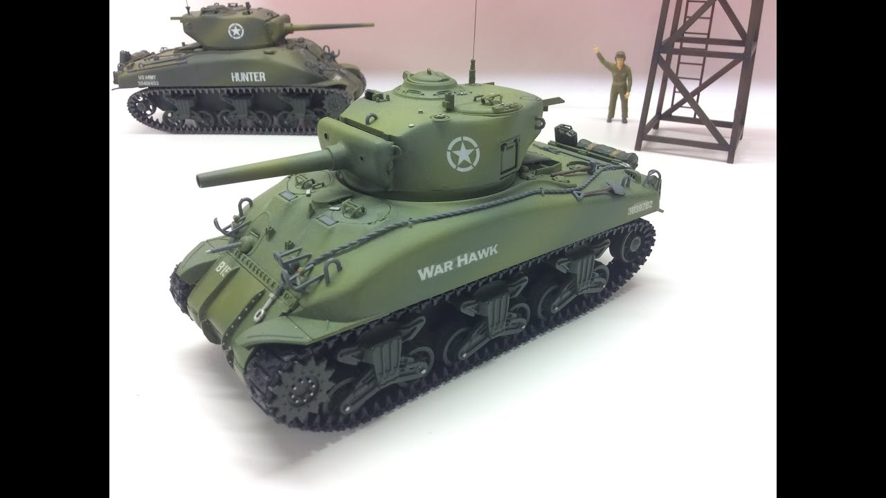 Rc Bausatz 1:35 Us M4 Sherman Model-tank Wot Style Rc Conversion
