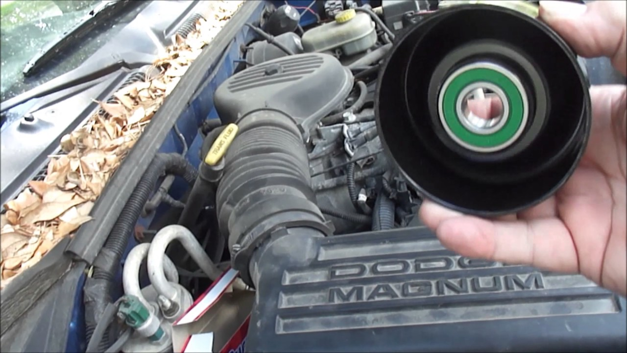2001 dodge dakota idler pulley replace squeaky noise [ 1280 x 720 Pixel ]