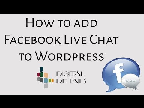 How To Add Facebook Live Chat To Wordpress